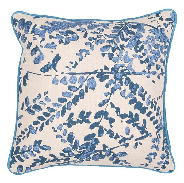 Pristine, Blue Floral / Botanical pillow