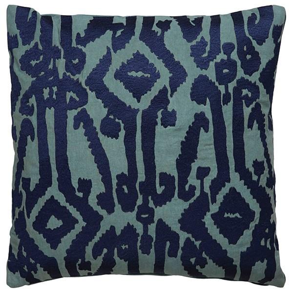 Blue Indigo, Trellis Southwestern / Lodge pillow