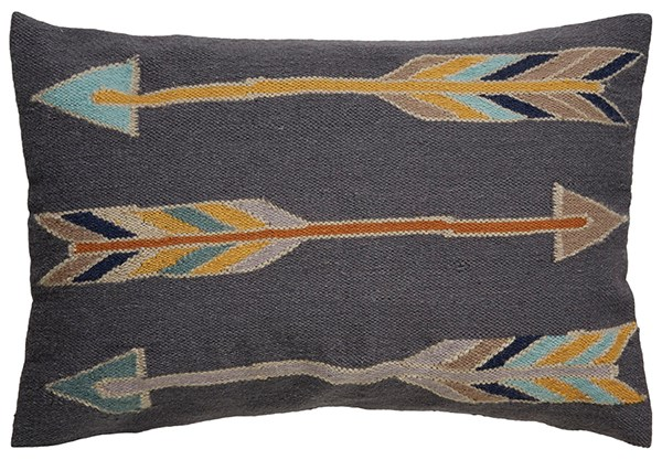 Pewter, Honey Mustard Southwestern / Lodge pillow