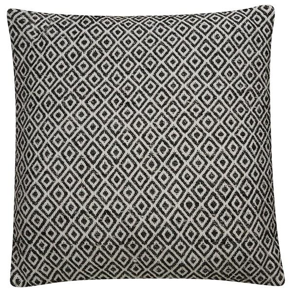 Gardenia, Pewter Moroccan pillow