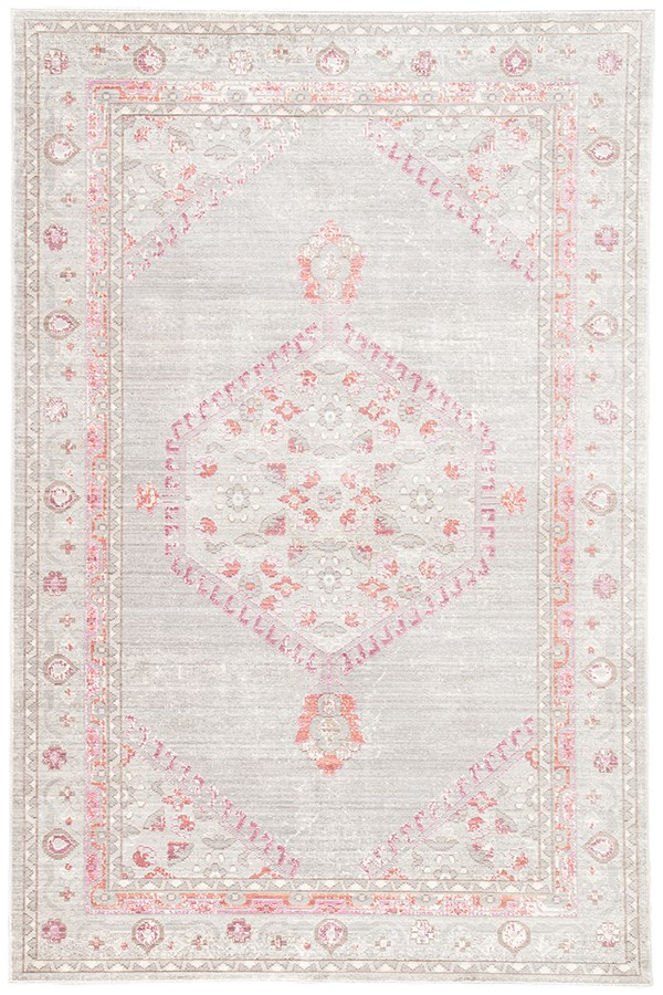 Gray, Silver, Blue, Pink (CER-01) Bohemian Area Rug