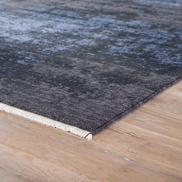 Blue, Black (DEN-02) Contemporary / Modern Area Rug