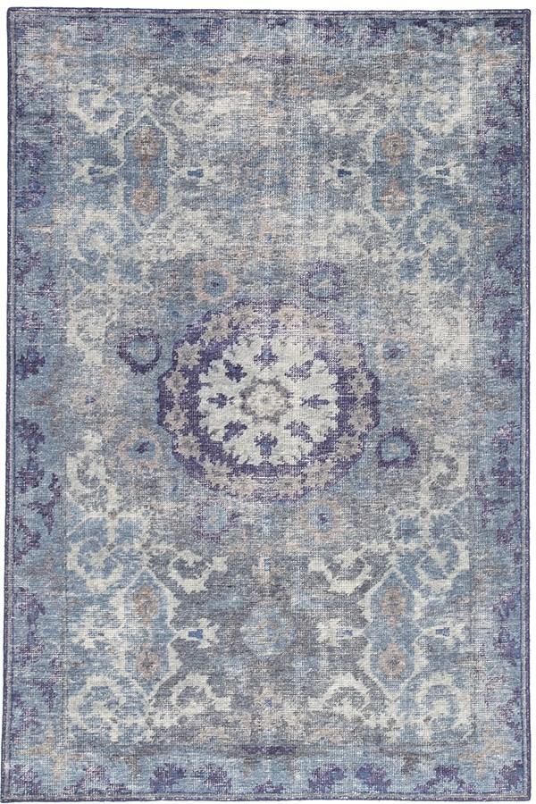 Blue, Grey (KAI-06) Bohemian Area Rug