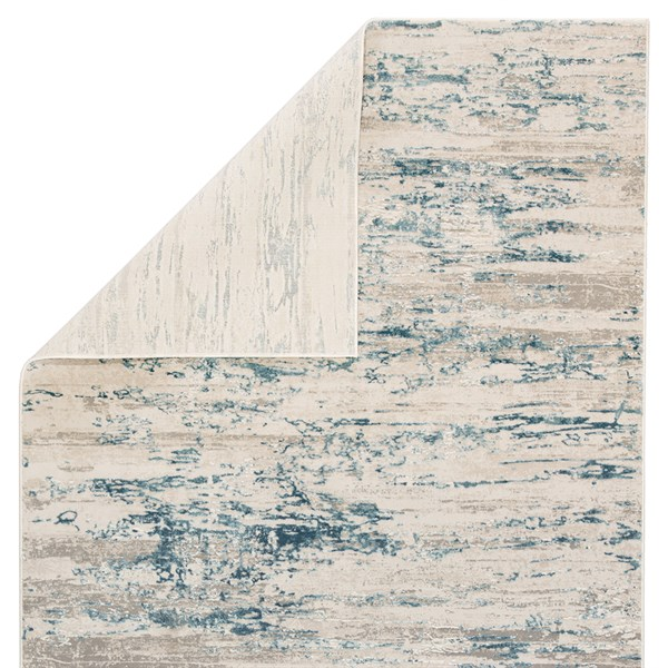 Ivory, Blue (CIQ-25) Abstract Area Rug