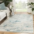Product Image of Ivory, Blue (CIQ-25) Abstract Area Rug