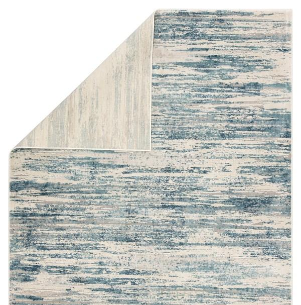 Blue, Beige, Grey (CIQ33) Abstract Area Rug