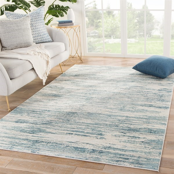 Blue, Beige, Grey (CIQ-33) Abstract Area Rug