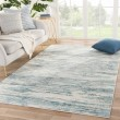Product Image of Blue, Beige, Grey (CIQ33) Abstract Area Rug