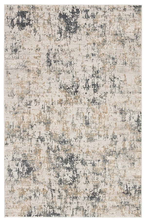 White, Dark Gray (CIQ-09) Abstract Area Rug