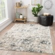 Product Image of White, Dark Gray (CIQ-09) Abstract Area Rug