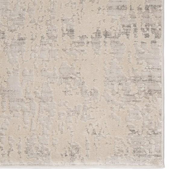 Silver, White (CIQ-08) Abstract Area Rug