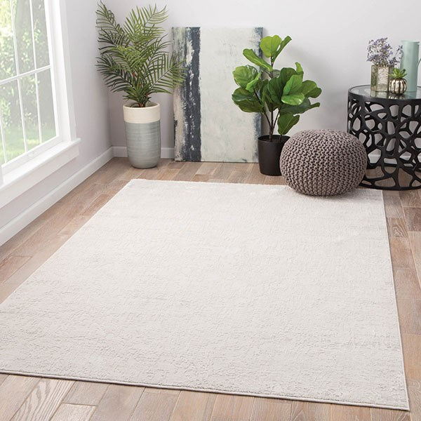 Silver, White (CIQ-08) Abstract Area Rug