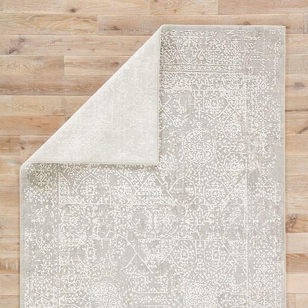Gray, White (CIQ-04) Vintage / Overdyed Area Rug