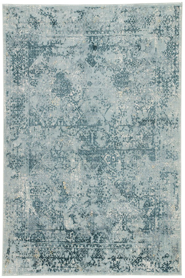 Blue, Teal (CIQ-05) Vintage / Overdyed Area Rug
