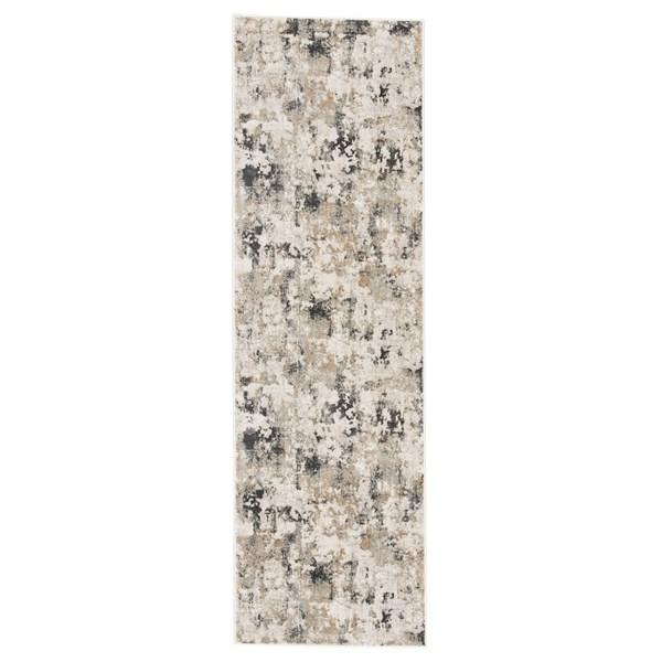 White, Gray (CIQ-01) Abstract Area Rug