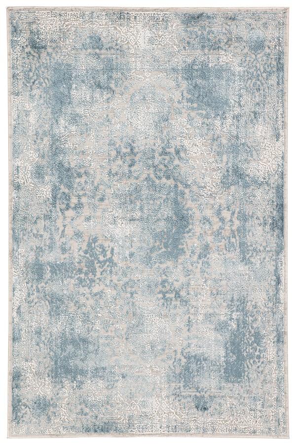 Blue, Ivory(CIQ-11) Vintage / Overdyed Area Rug
