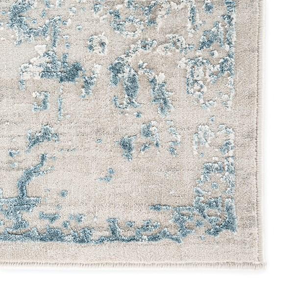 Light Gray, Blue (CIQ-15) Vintage / Overdyed Area Rug