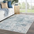 Product Image of Light Gray, Blue (CIQ-15) Vintage / Overdyed Area Rug