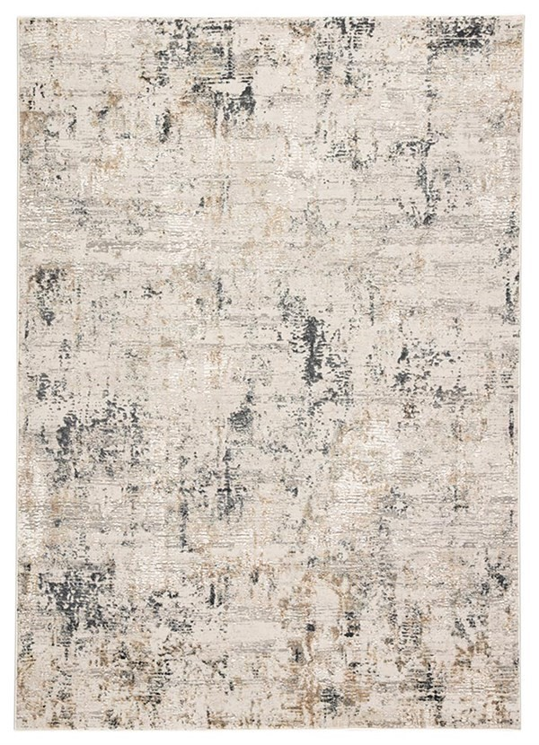 Grey (CIQ29) Abstract Area Rug