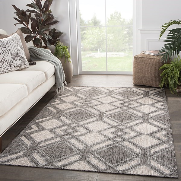 Ivory, Black (DNC-15) Contemporary / Modern Area Rug