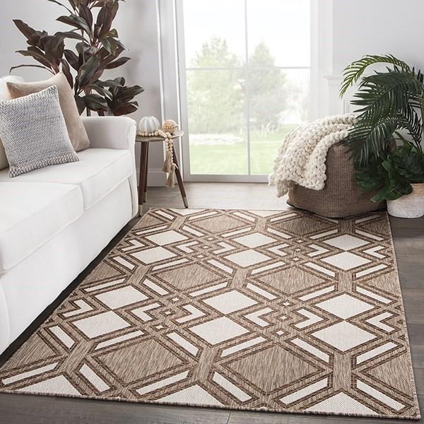Ivory, Brown (DNC-16) Outdoor / Indoor Area Rug