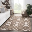 Product Image of Ivory, Brown (DNC-16) Outdoor / Indoor Area Rug