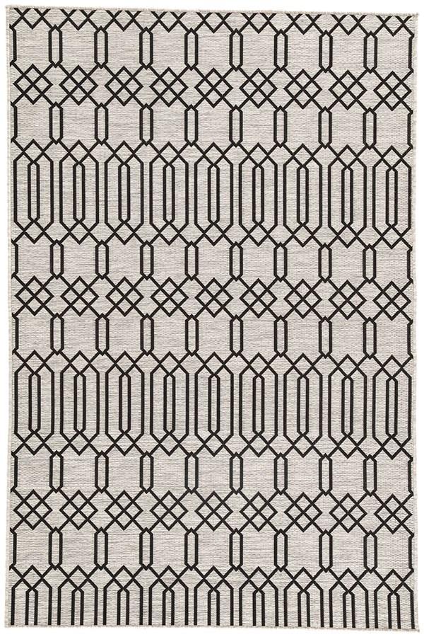 Gray, Black (DNC-01) Contemporary / Modern Area Rug