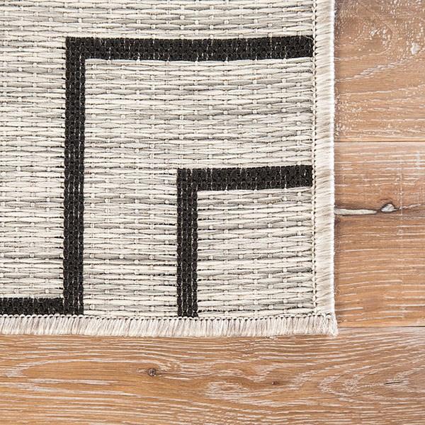 Silver, Black (DNC-03) Outdoor / Indoor Area Rug