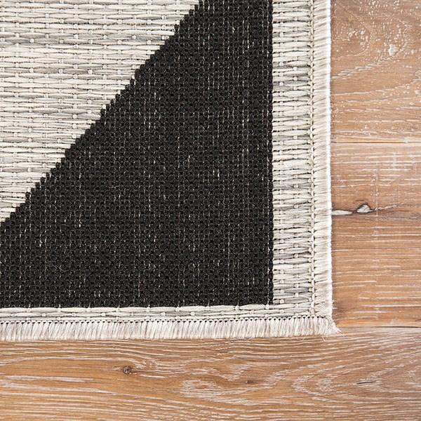 Silver, Black (DNC-08) Outdoor / Indoor Area Rug