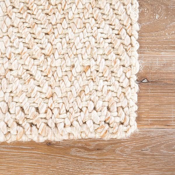 White, Beige (ROL-03) Natural Fiber Area Rug