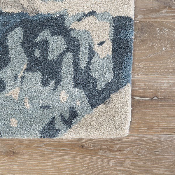 Gray, Blue (GES-12) Abstract Area Rug