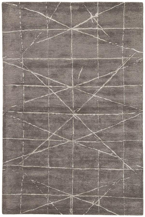 Dark Gray, Silver (GES-13) Contemporary / Modern Area Rug