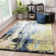 Product Image of Blue, Green (GES-10) Abstract Area Rug