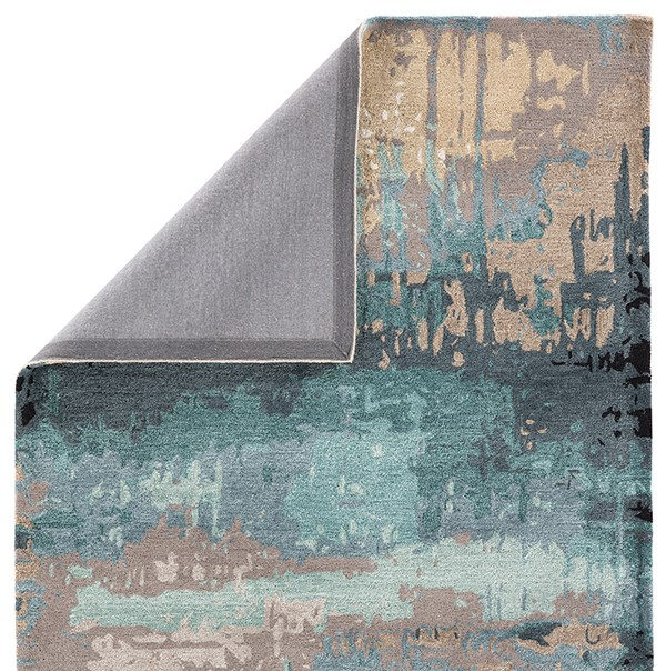 Blue, Gray (GES-27) Abstract Area Rug