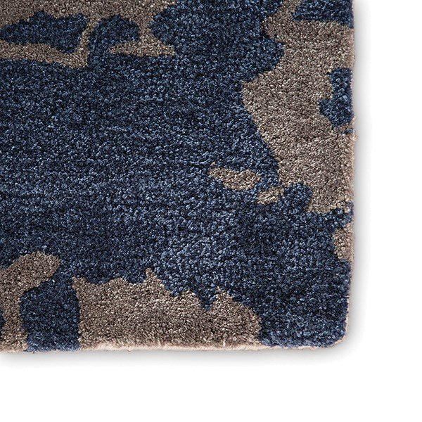 Blue, Gray (GES-18) Abstract Area Rug