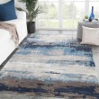 Product Image of Blue, Gray (GES-18) Abstract Area Rug