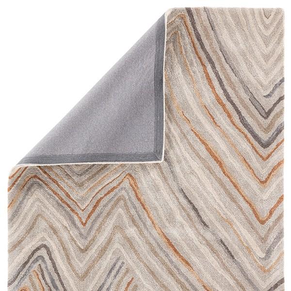 Orange, Gray (GES-29) Contemporary / Modern Area Rug