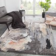 Product Image of Gray, Blush (GES-25) Abstract Area Rug