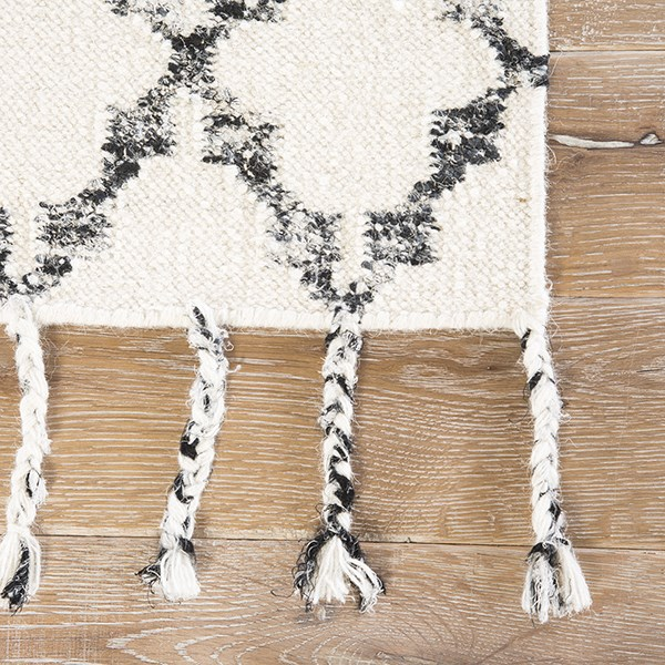 Ivory, Black (ADA-02) Moroccan Area Rug