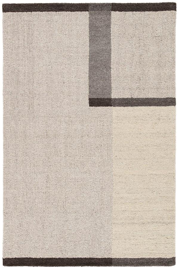 Beige, Dark Gray (AOS-05) Contemporary / Modern Area Rug