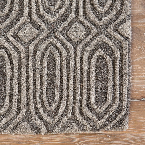 Grey (AOS-03) Textured Solid Area Rug