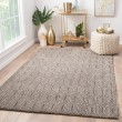 Product Image of Grey (AOS-03) Textured Solid Area Rug