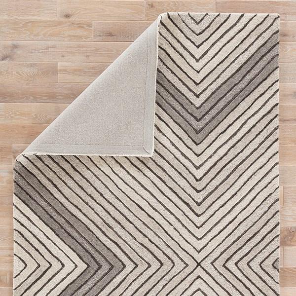 Gray, Cream (AOS-02) Contemporary / Modern Area Rug
