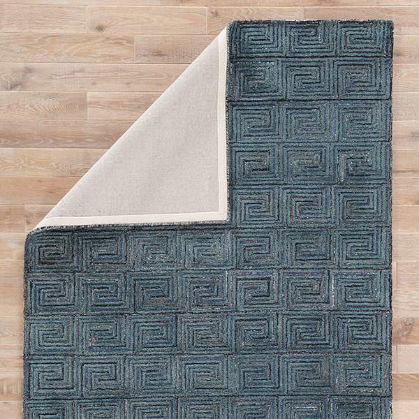 Blue, Brown (CAP-01) Geometric Area Rug