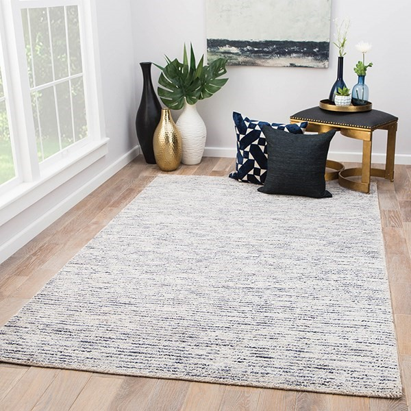 Blue, Ivory (CFF-03) Contemporary / Modern Area Rug