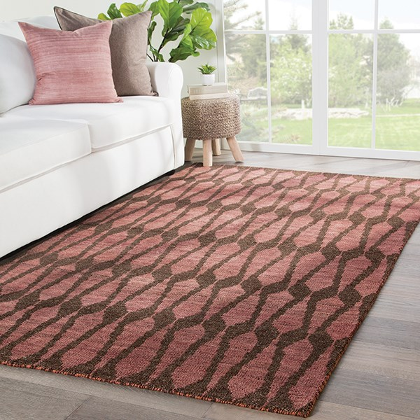 Purple, Brown (AZL-01) Contemporary / Modern Area Rug