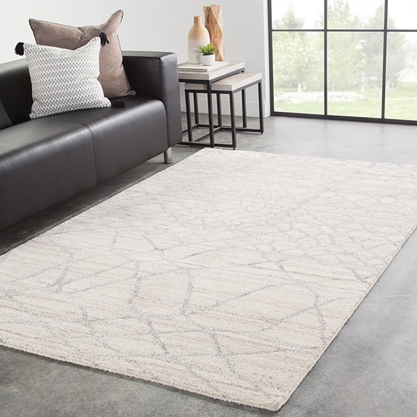Ivory, Silver (AZL-02) Contemporary / Modern Area Rug