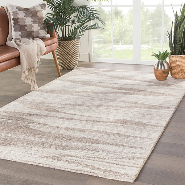 Ivory, Brown (DRN-01) Contemporary / Modern Area Rug