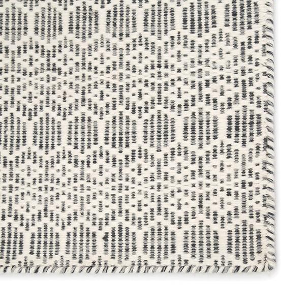 White, Gray (ENC-01) Geometric Area Rug