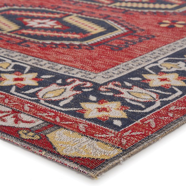 Red, Yellow (POL-12) Outdoor / Indoor Area Rug